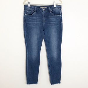 Joe's Raw hem skinny ankle jeans